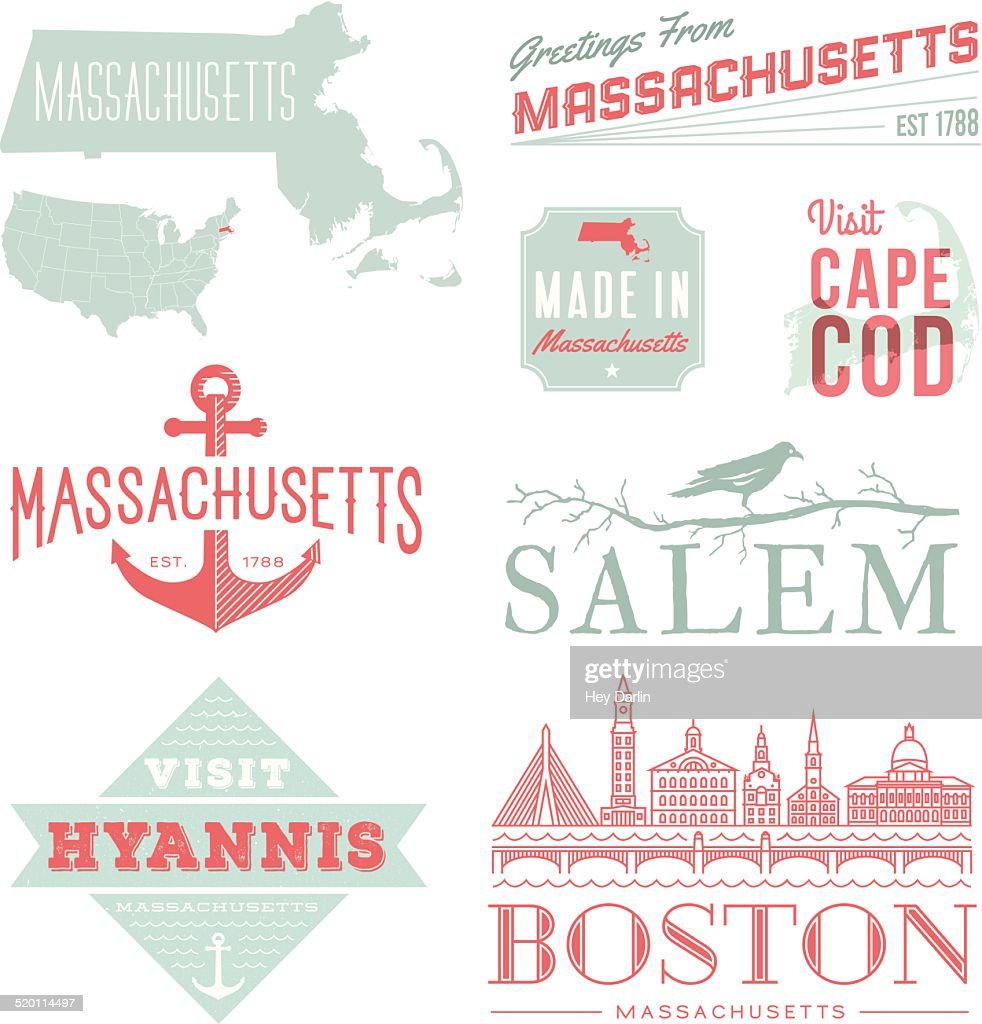 Massachusetts Typography