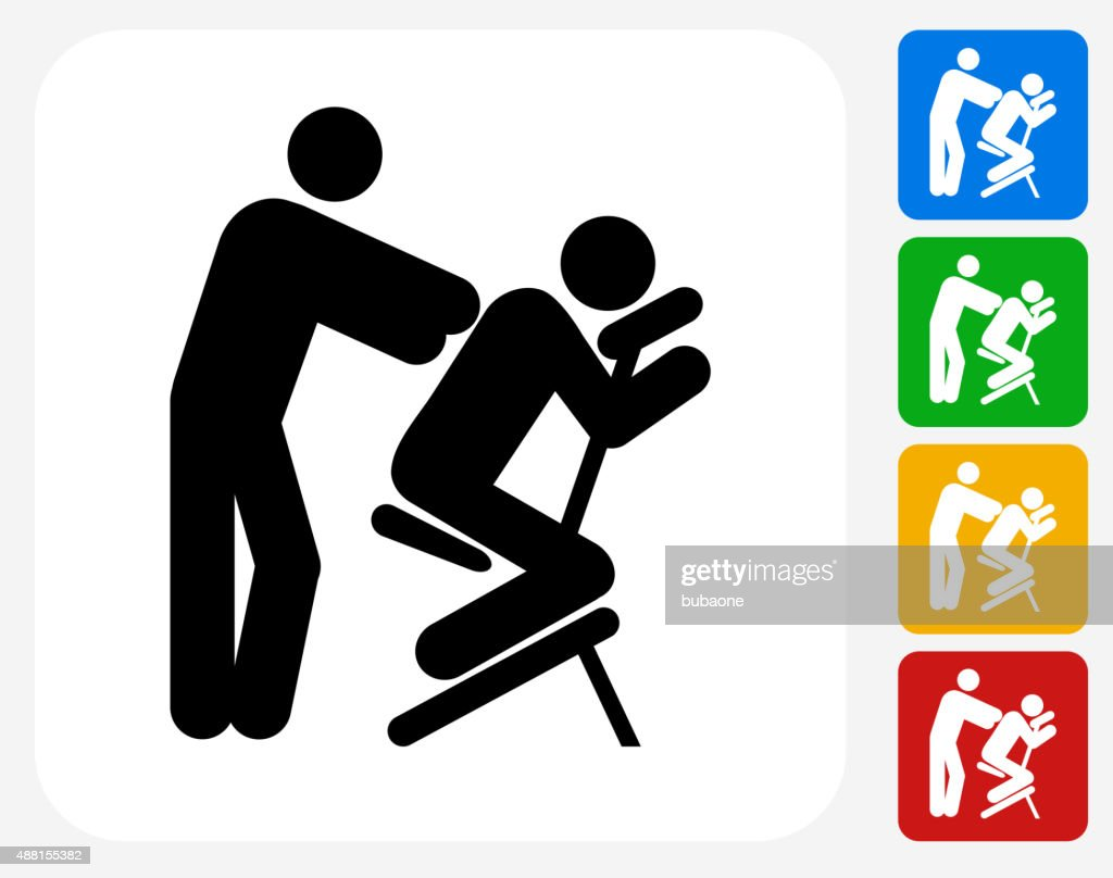 massage icon flat graphic design vector art getty images