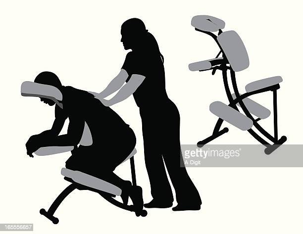 illustrations, cliparts, dessins animés et icônes de massagetherapist - masseur