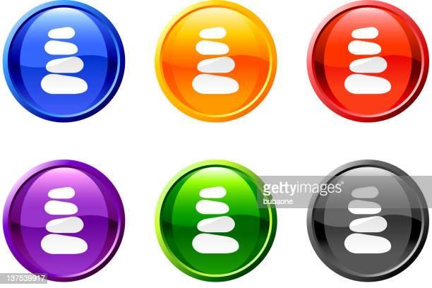 ilustrações de stock, clip art, desenhos animados e ícones de terapia de massagem pedras botão de arte vetorial royalty free - massagista