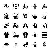 Massage Vector Icons set
