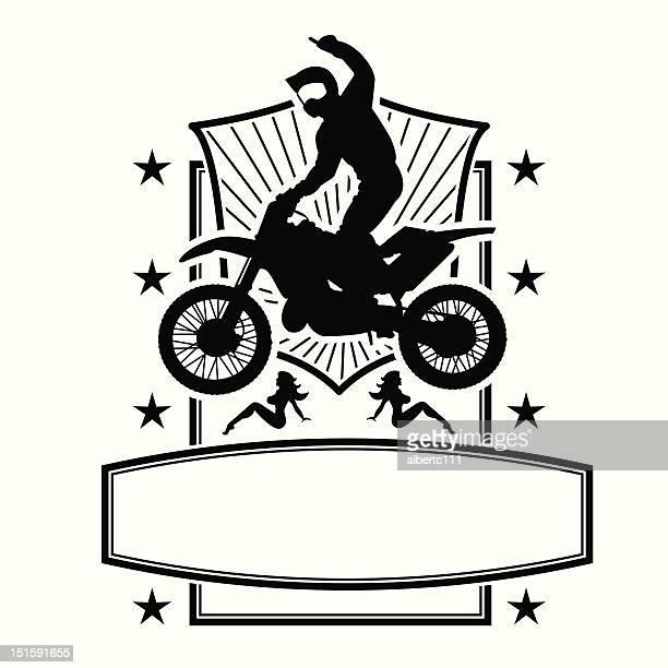 ilustraciones, imágenes clip art, dibujos animados e iconos de stock de maestro de motocross - motocross