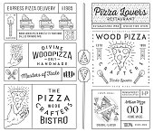 Masters and lovers of pizza black on white