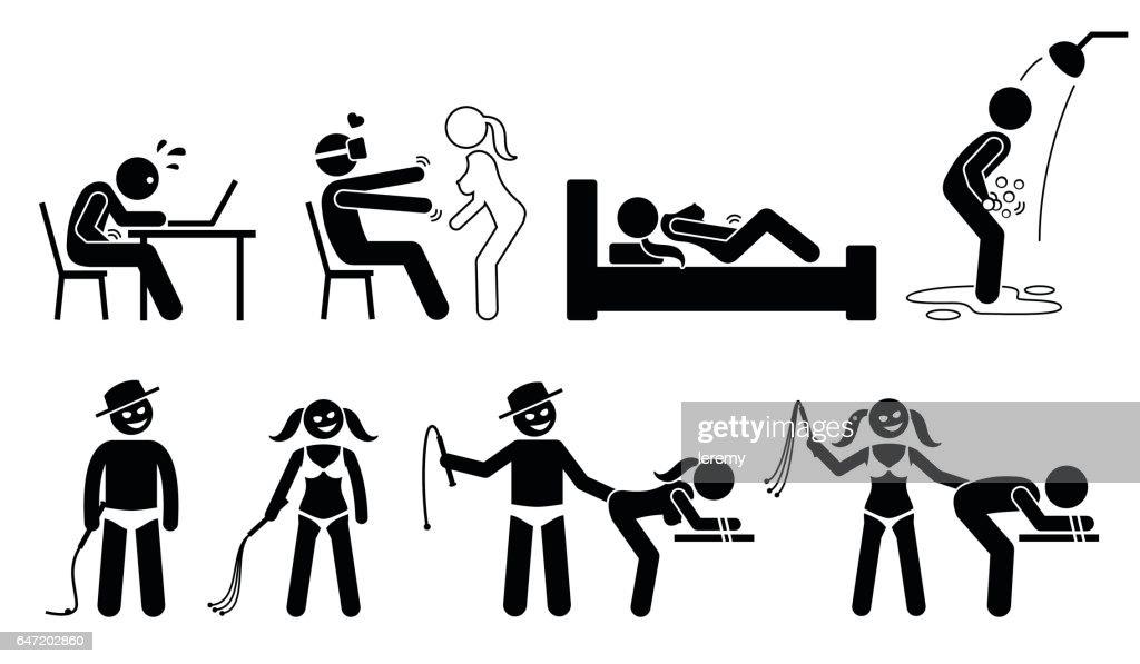 Masturbation, virtual reality for sex, BDSM, and sexual maniac.