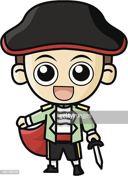 matador cartoon - bullfighter stock illustrations, clip art, cartoons, & icons