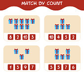 match count cartoon gift box match