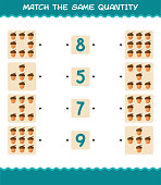 match same quantity acorn counting game