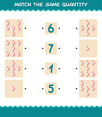 match same quantity marshmallow counting game