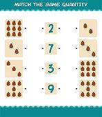 match same quantity pine cone counting