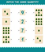 match same quantity pine tree counting