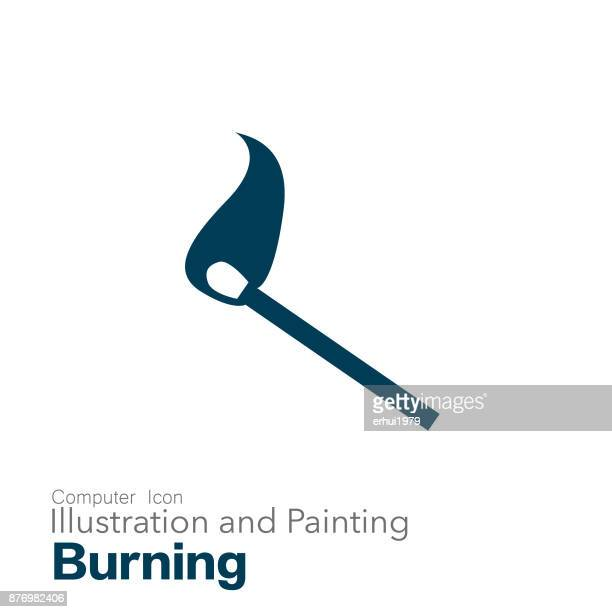 matchstick - igniting stock illustrations, clip art, cartoons, & icons