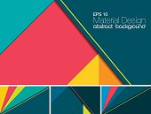 Material design abstract background