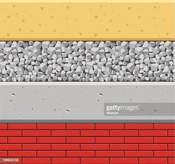 material - gravel stock illustrations