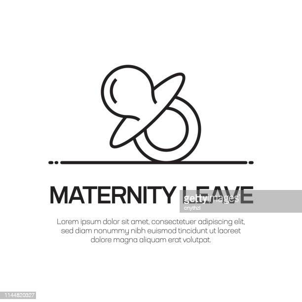 maternity leave vector line icon - simple thin line icon, premium quality design element - maternity leave stock illustrations