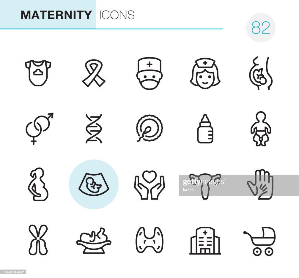 Maternity - Pixel Perfect icons : Stock Illustration