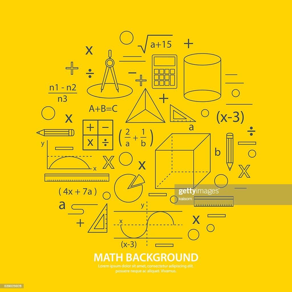 math icon background