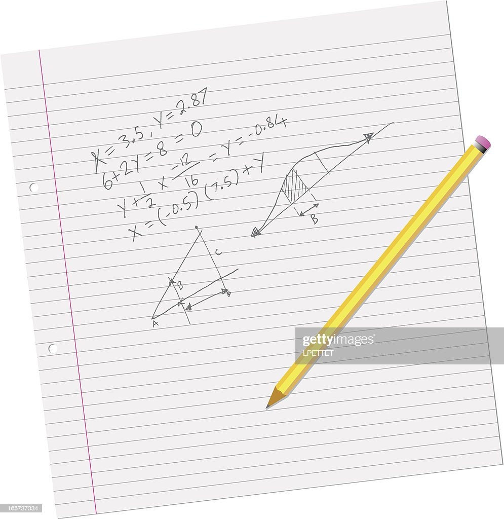 Math School Work Vector Art | Getty Images