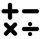 math sign on white background. math symbol. flat style. calculator icon.