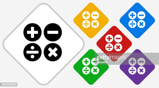 Math Symbols Color Diamond Vector Icon