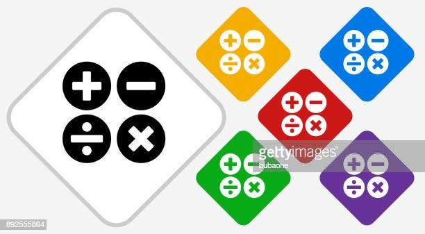 math symbols color diamond vector icon - plus sign stock illustrations, clip art, cartoons, & icons