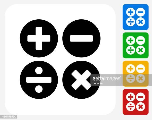 ilustrações, clipart, desenhos animados e ícones de cálculo símbolo ícone plana de design gráfico - subtração