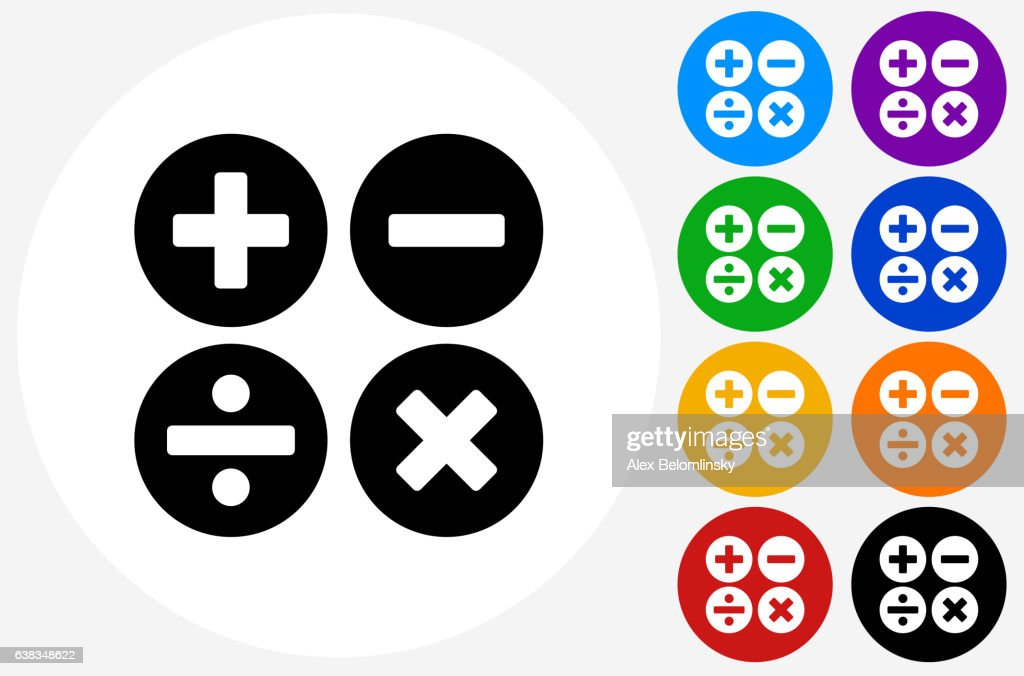 Math symbols icon on flat color circle buttons vector art getty images math symbols icon on flat color circle buttons vector art publicscrutiny Choice Image