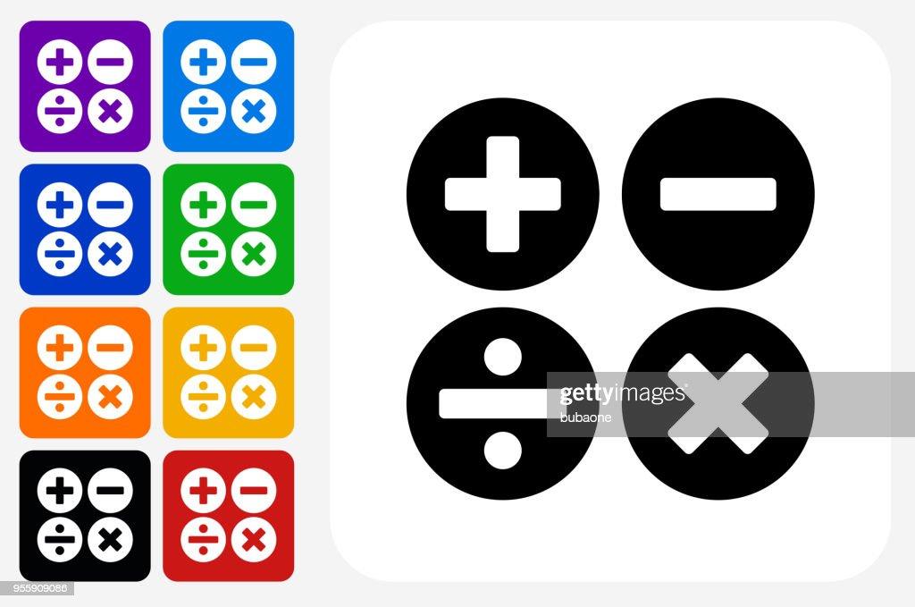 Math Symbols Icon Square Button Set Vector Art Getty Images