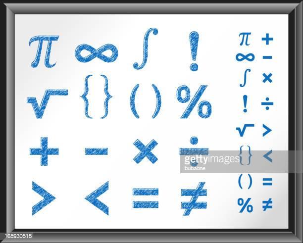 Math Symbols on White Board