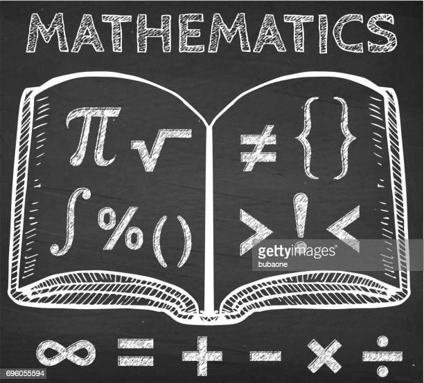 チョーク ボードの本の数学記号 - 数学記号点のイラスト素材/クリップアート素材/マンガ素材/アイコン素材