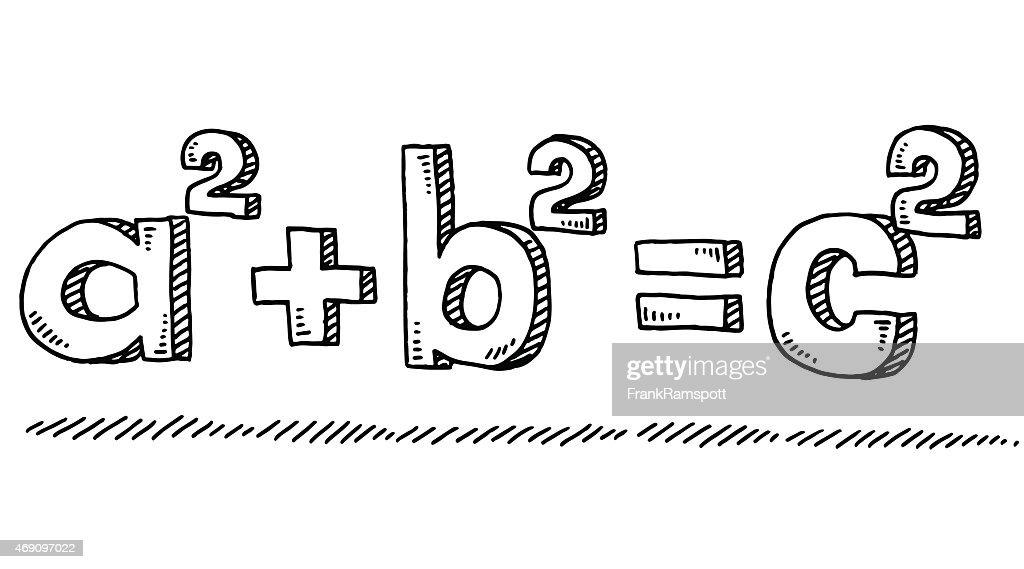 Mathematic Formula Pythagoras Drawing