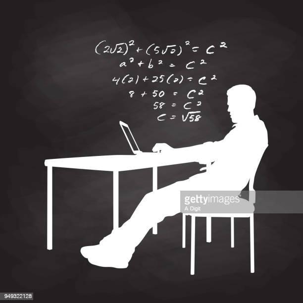 数学の宿題 - 付ける点のイラスト素材/クリップアート素材/マンガ素材/アイコン素材