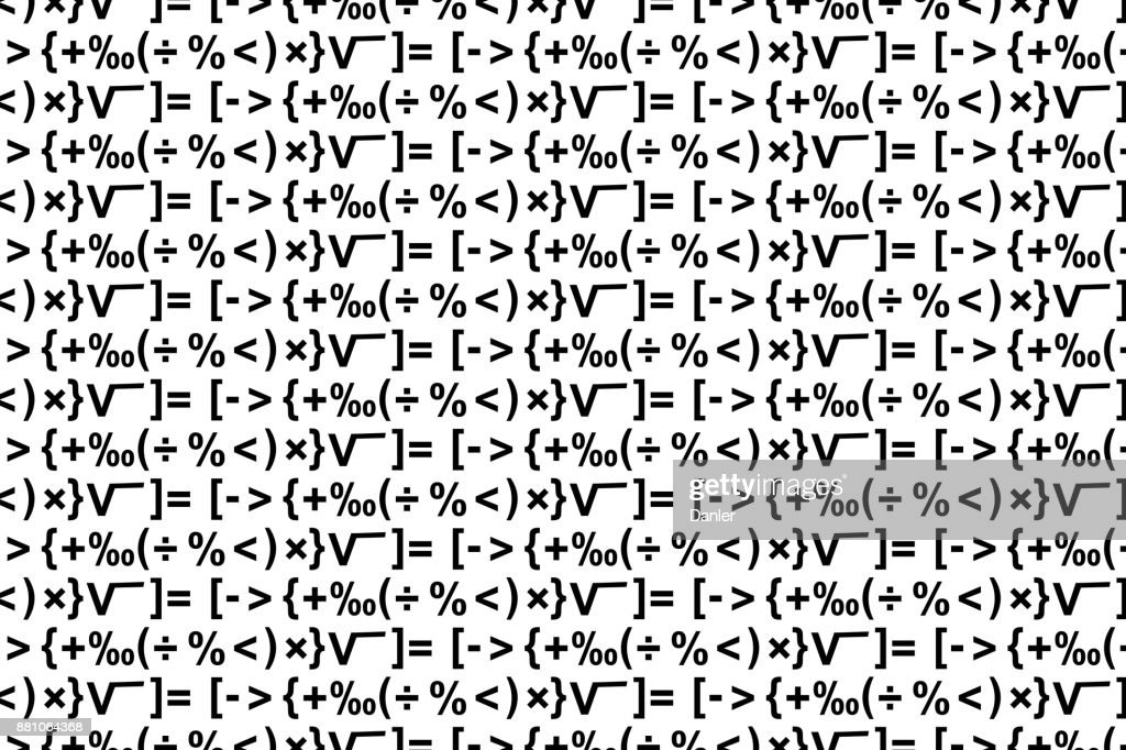 Mathematical Symbols Vector Background Vector Art Getty Images