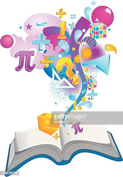 ilustrações de stock, clip art, desenhos animados e ícones de livro de matemática - matematica