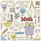 Mathematics. Hand drawn. Vector illustration.