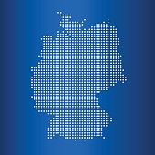 matrix map of map of Germany