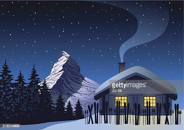 matterhorn - alpen stock-grafiken, -clipart, -cartoons und -symbole