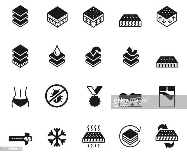 Mattress icon set