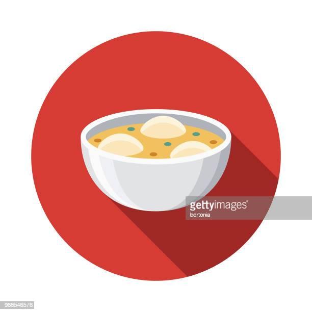 matzo ball soup flat design hanukkah icon - written date stock illustrations