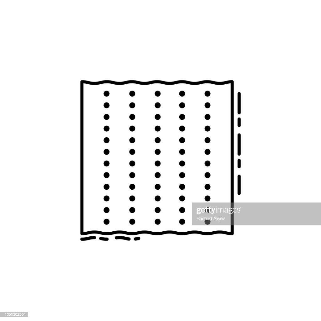 Matzo icon. Element of Jewish icon for mobile concept and web apps. Thin line Matzo icon can be used for web and mobile