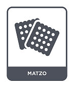 matzo icon vector on white background, matzo trendy filled icons from Religion collection