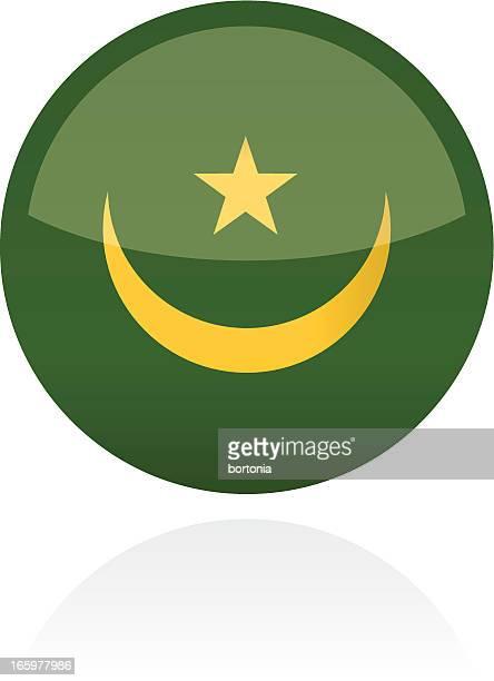 Mauritania, Africa Flag Button