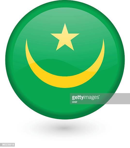 Mauritania flag vector button