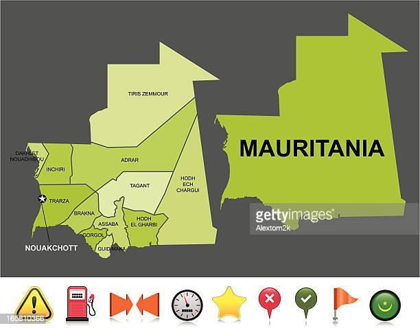 Mauritania navigation map
