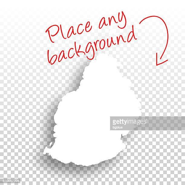 ilustrações, clipart, desenhos animados e ícones de maurício mapa para o design-fundo em branco - ilhas maurício