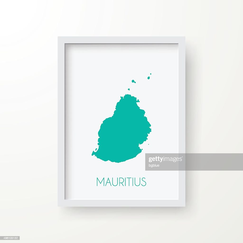 Mauritius Map In Frame On White Background Vector Art | Getty Images