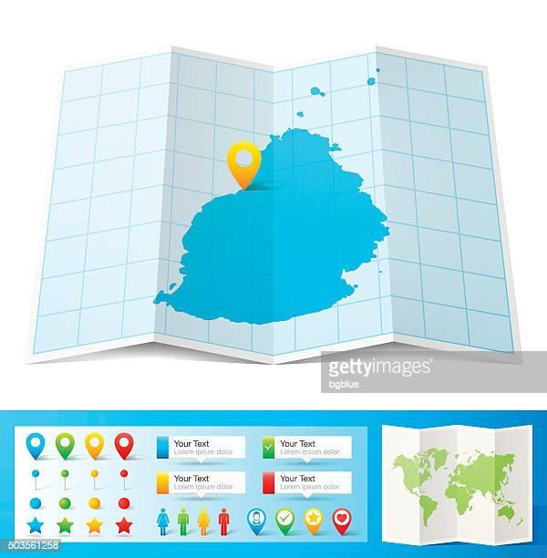 ilustrações, clipart, desenhos animados e ícones de maurício mapa com localização bótons isolado no fundo branco - ilhas maurício