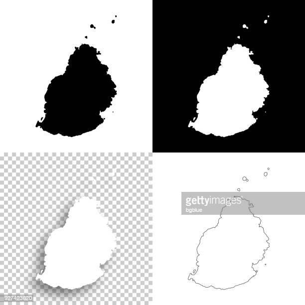 ilustrações, clipart, desenhos animados e ícones de mapas de maurício para o design - em branco, planos de fundo brancos e pretos - ilhas maurício
