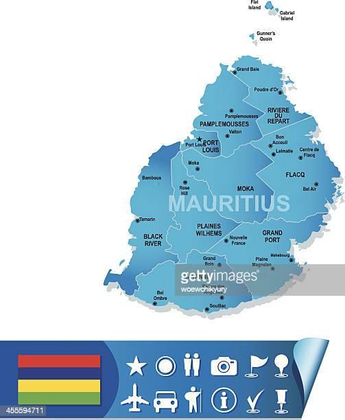 ilustrações, clipart, desenhos animados e ícones de maurício vetor mapa - ilhas maurício