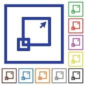 Maximize window framed flat icons