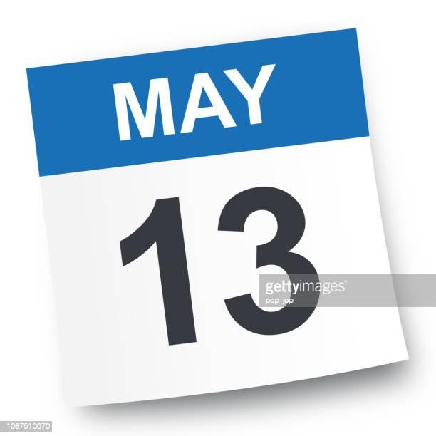 may 13 - calendar icon - may stock illustrations